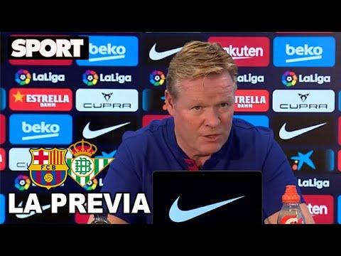 RUEDA DE PRENSA de KOEMAN🎙PREVIA FC BARCELONA – BETIS: «NO ME INTERESA LA POLÉMICA de MESSI»