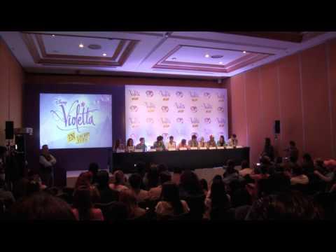 Violetta en Vivo: Conferencia de Prensa y llegada al Auditorio