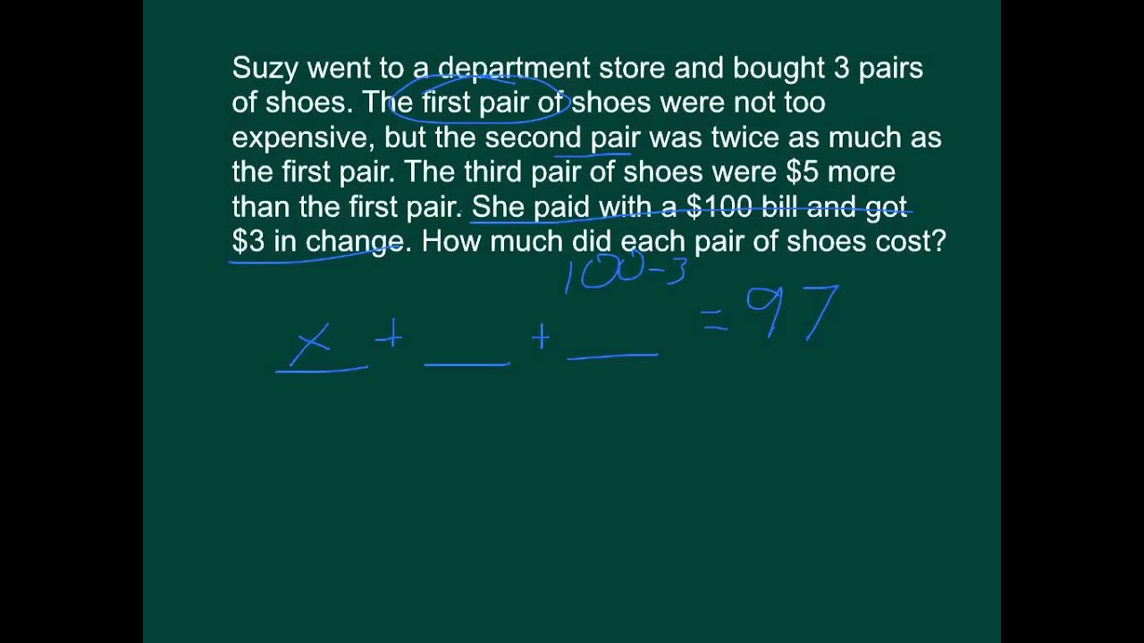 Multi Step Equation Writing From Word Problems Youtube