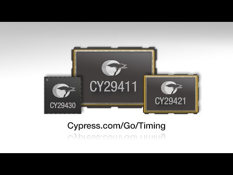 This video introduces Cypress's new CY249X High Performance Programmable Oscillators. The family offer performance that exceeds the reference clock requirements of demanding high-speed interface standards including 40/100GbE, SyncE and IEEE 1588, making them ideal for networking applications such as switches and routers, wireless base stations, Fiber-To-The-Home hubs and any systems requiring high-performance clocks.
