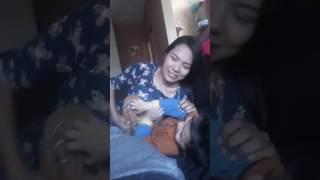 Iker y tía Ana jugando