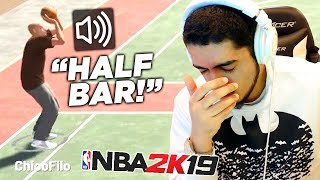 I tried carrying my trash IRL friend to wins in NBA2K19 (HILARIOUS)
