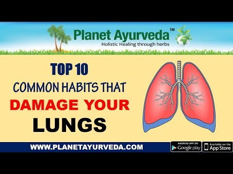 Top 10 common habits that harm your lungs - Cure with Ayurveda