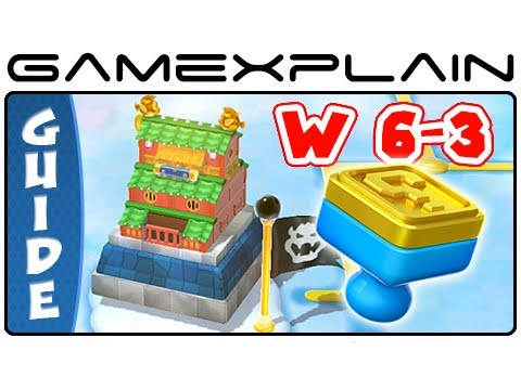 Where To Find The Stamp In World 6-3 Hands-on Hall - Super Mario 3D World Guide & Walkthrough - Smashpipe Games Video