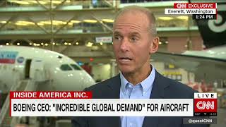 Interview with Boeing CEO at the Dreamliner factory (part 2)