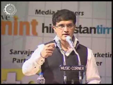 Saurav Ganguly speaks on Leadership at IIM Calcutta