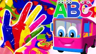 Learn Colors with Body Paint Finger Family Nursery Rhymes & ABC Kids Songs + More for Children