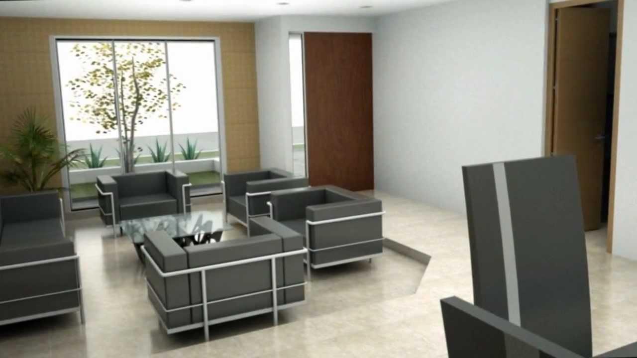 Casa moderna minimalista dise o de interiores youtube for Casa moderna con jardin interior
