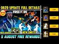 Free Fire New Updates In Telugu    Claim Free Rewards Fast 😍    New M1887 Gun Skin    Ob29 Updates