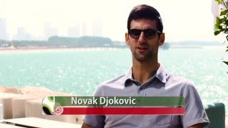 Novak Djokovic Makes A Splash At Wild Wadi Waterpark