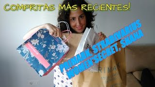Haul compritas más recientes| Primark, Stradivarius, Shana, Women Secret.