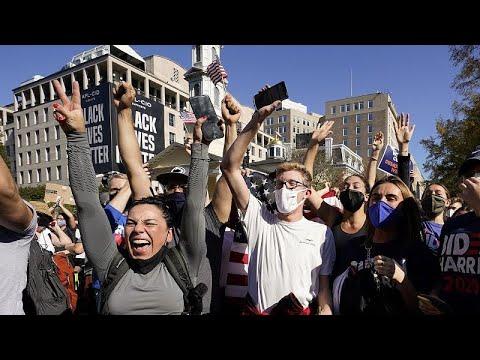 Los electores demócratas festejan en las calles el triunfo de Biden