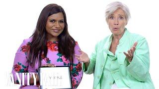 Emma Thompson and Mindy Kaling Teach You Posh British Slang | Vanity Fair