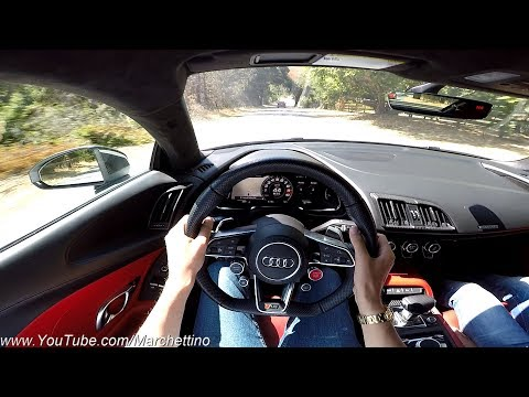 YOU Drive the Audi R8 V10 Fast! - POV Test Drive w/ Police Escort