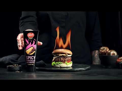 Kavli Flamin' Hot Mjukost Stuffed Burger