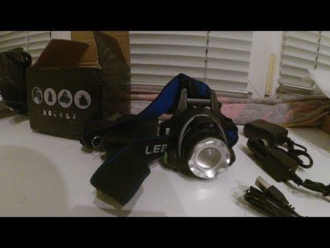 светодиодный налобный фонарь L2 LED очень яркий хороший фонарь! photo