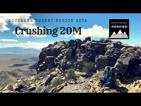 Hiking in the Southern Desert of California on West Ord Mountain - How to SOTA Ham Radio