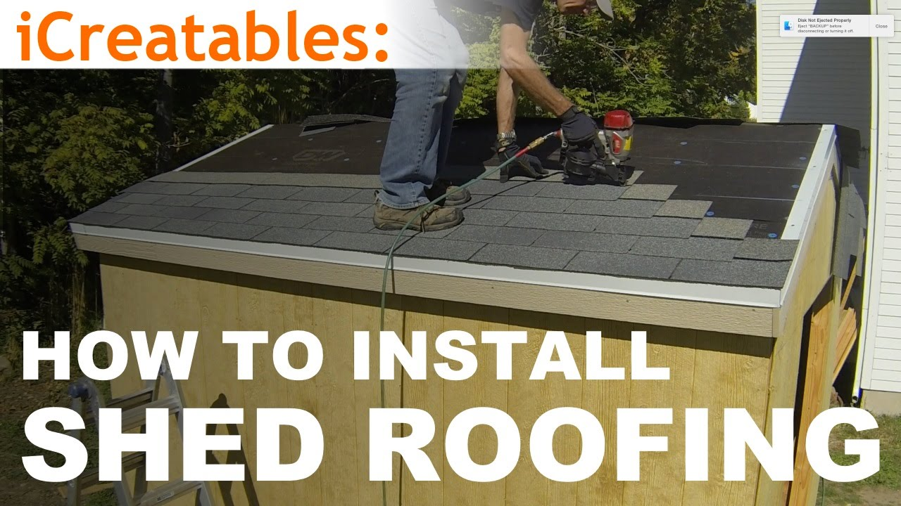 How To Build A Shed Part 9 Install Asphalt Shingles On