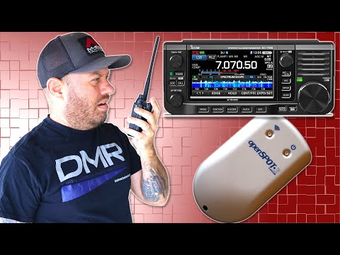 Icom IC-705 DSTAR to DMR with the Openspot3 Cross Mode