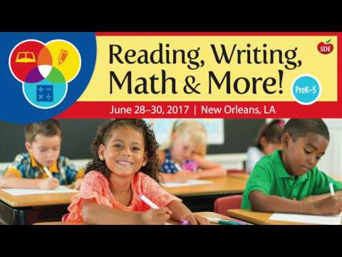 SDE 2017 Reading, Writing, Math & More! Conference Promo