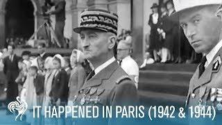 It Happened In Paris: WWII Nazi Occupation (1942 & 1944)   British Pathé