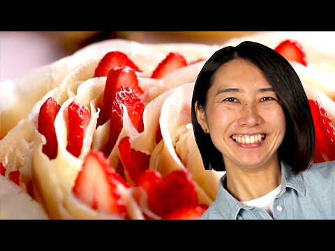 Here's How To Make Rie's Rose Crepe Cake Recipe