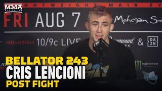Bellator 243: Cris Lencioni Calls AJ Agazarm 'Sore Loser' and 'Cheater' - MMA Fighting