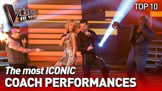 The most ICONIC Coaches Performances on The Voice | The Voice 10 Years