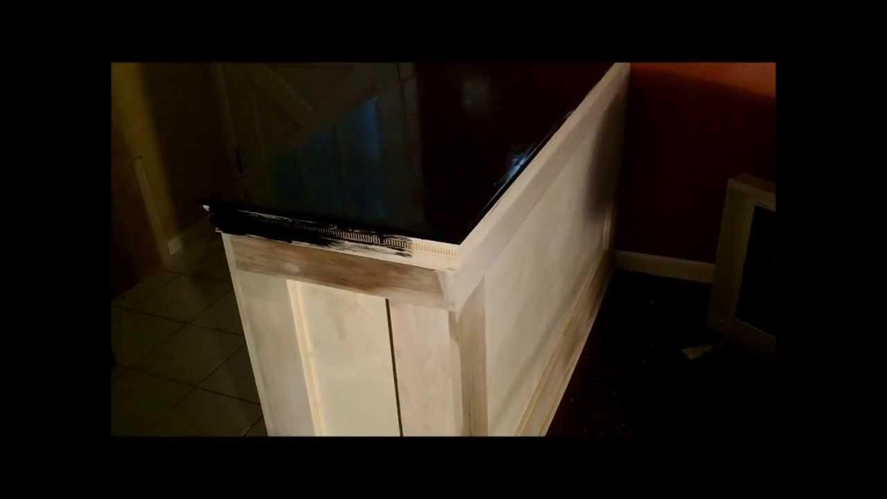 interior diy half wall build - YouTube