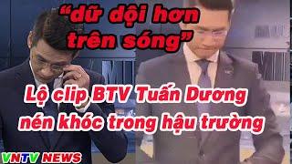 Lộ clip biên tập viên Tuấn Dương tự đấm tay trong hậu trường khi dẫn về mưa lũ miền trung VNTV NEWS