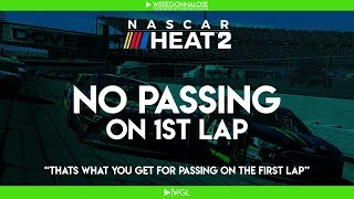 Nascar Heat 2 Gameplay Trolling - No Passing On The 1st Lap Rule - Funny Trolling Nascar Crashes