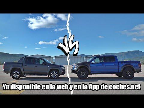 TRAILER Drag Race Volkswagen Amarok vs Ford F-150 Raptor | coches.net