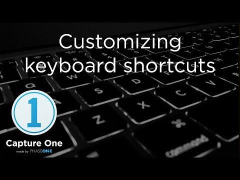 Customizing keyboard shortcuts | Tutorial | Capture One 12