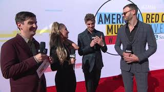 The Chainsmokers Red Carpet Interview - AMAs 2018
