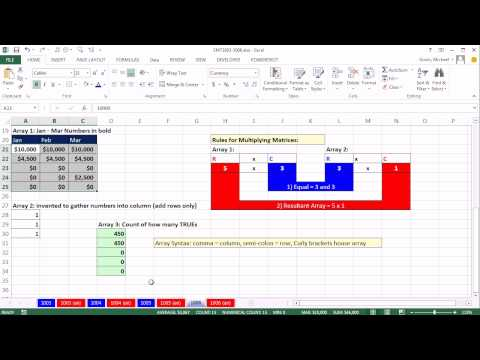 Excel Magic Trick 1006: Insurance Calculation: MMULT Function to add from rows in a 2-Way Array