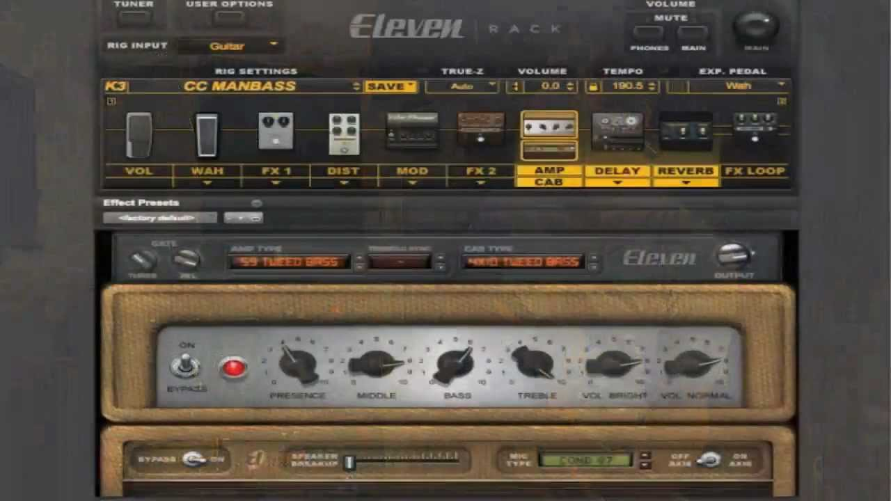 how to use the avid eleven rack 6 bassman tone guitar effects tutorial youtube. Black Bedroom Furniture Sets. Home Design Ideas