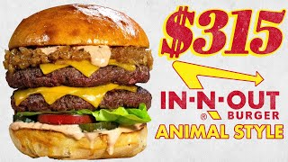 $315 In-N-Out Animal Style Burger and Fries   Fancy Fast Food   Mythical Kitchen