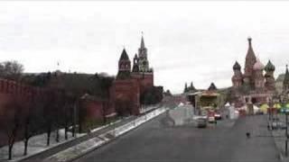 Moscow; Moskva river, Kremlin, St Basil's