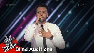 Παναγιώτης Μπουραντώνης - Σπασμένο καράβι   7o Blind Audition   The Voice of Greece
