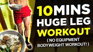 10 MIN Home Leg Workout (NO EQUIPMENT BODYWEIGHT WORKOUT!)