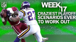 The Craziest Week 17 Playoff Clinchers in NFL History | NFL Highlights