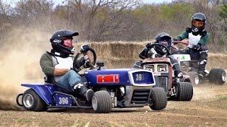 Lawnmower Racing Battle   Dude Perfect