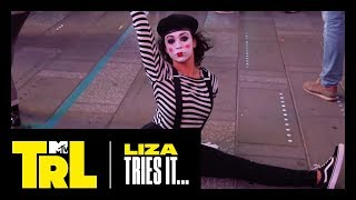 Liza Koshy Tries Miming in Times Square | TRL Weekdays at 4pm