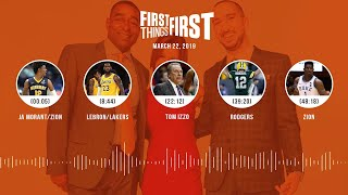 First Things First audio podcast (3.22.19)Cris Carter, Nick Wright, Jenna Wolfe | FIRST THINGS FIRST