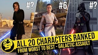 All 20 Heroes Ranked from Worst to Best (August - 2019) | STAR WARS Battlefront 2