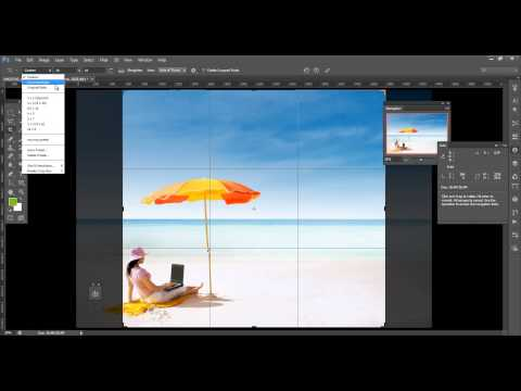 How to use adobe photoshop cs6 cropping tool