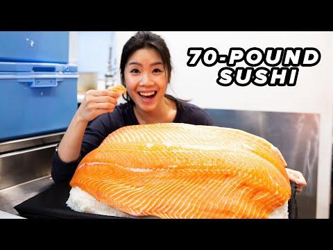 I Made The World's Largest Sushi