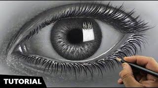 Draw Hyperrealistic Eye | Easiest Method | Narrated Step-by-step.