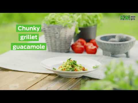 Chunky grillet guacamole