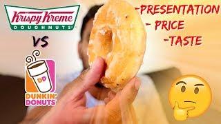 Krispy Kreme NZ vs Dunkin Donuts - Which is better? (Taste Test)